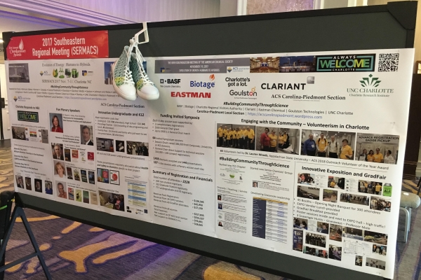 The Carolina Piedmont local ACS section has won the ACS ChemLuminary Award for best regional meeting in 2017