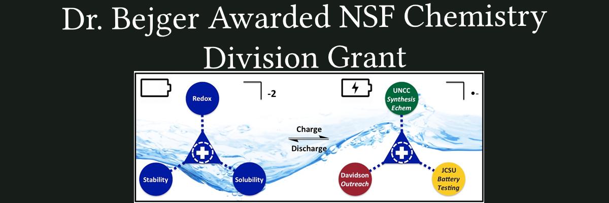 Dr. Bejger Awarded NSF Chemistry Division Grant