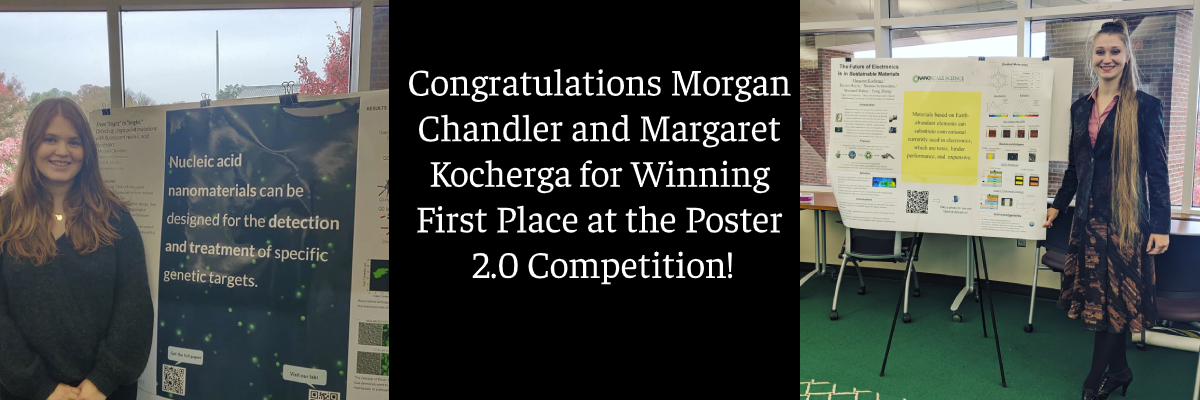 Congratulations Morgan and Margaret for Winning the Poster 2.0 Competition
