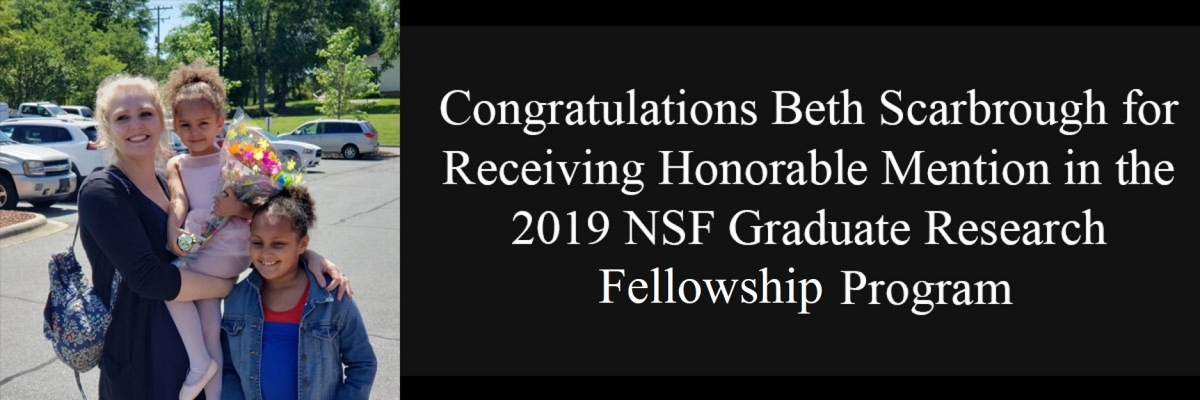 Beth Scarbrough Receives Honorable Mention in 2019 NSF GRFP